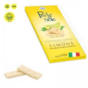 Zitrone aromatisierter weißer Schokoladenriegel - Perle di Sole