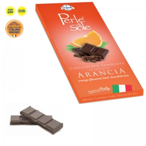Orange Flavored Dark Chocolate Bar - Perle di Sole