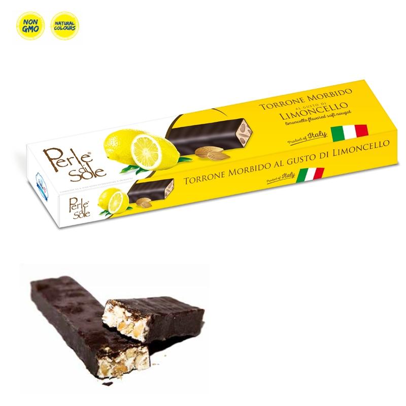 Turrón Limoncello Con Sabor Y Chocolate Oscuro - Perle di Sole