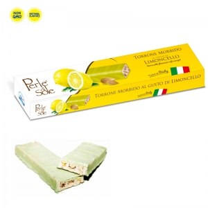 Limoncello Flavored Soft Nougat & White Chocolate - Perle di Sole