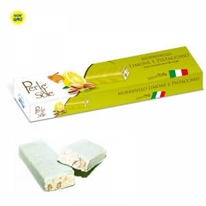 Lemon and Pistacchio Flavored Soft Nougat - Perle di Sole