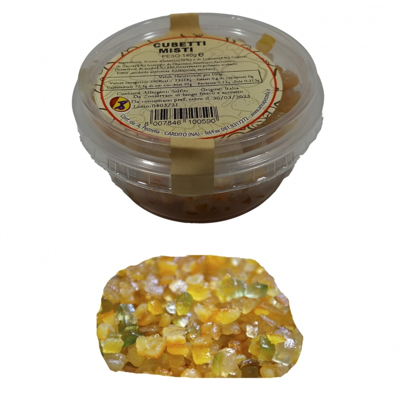 CANDIED MIXED CUBES Pezzella