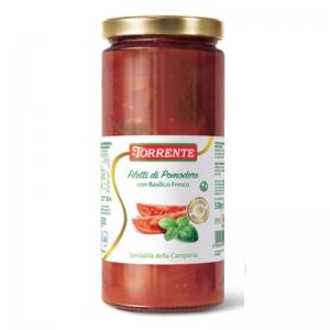 Tranches de tomates San Marzano au basilic 530g - La Torrente