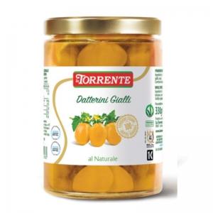 Tomates Datterini amarillos en agua - Tomates sin pelar - La Torrente