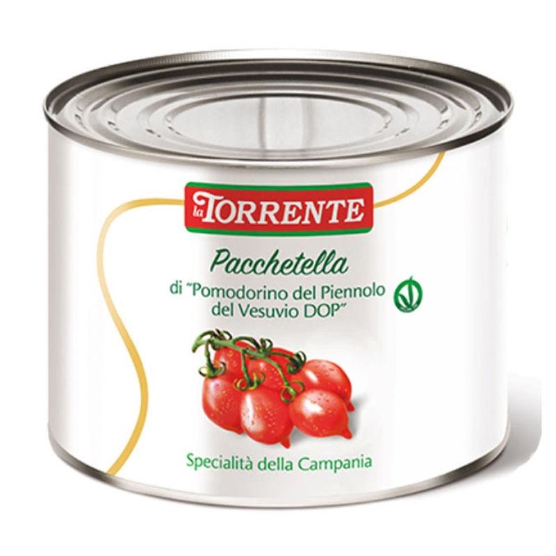 "Pacchetella de ""Pomodorino del Piennolo del Vesuvio DOP"" 2500g - La Torrente"