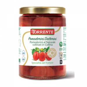 Tomates Datterini dans l'eau - Tomates non pelées - La Torrente