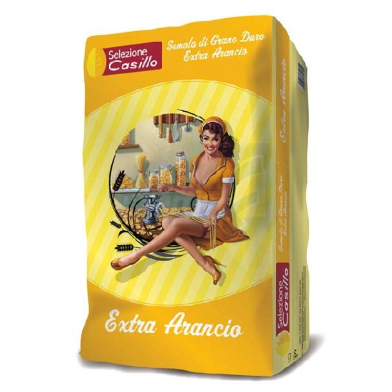 Sémola de trigo duro naranja - Extra 25 kg - Selezione Casillo
