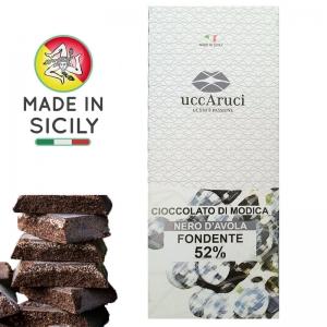 Cioccolato di Modica Nero d'Avola 100g - UCCARUCI