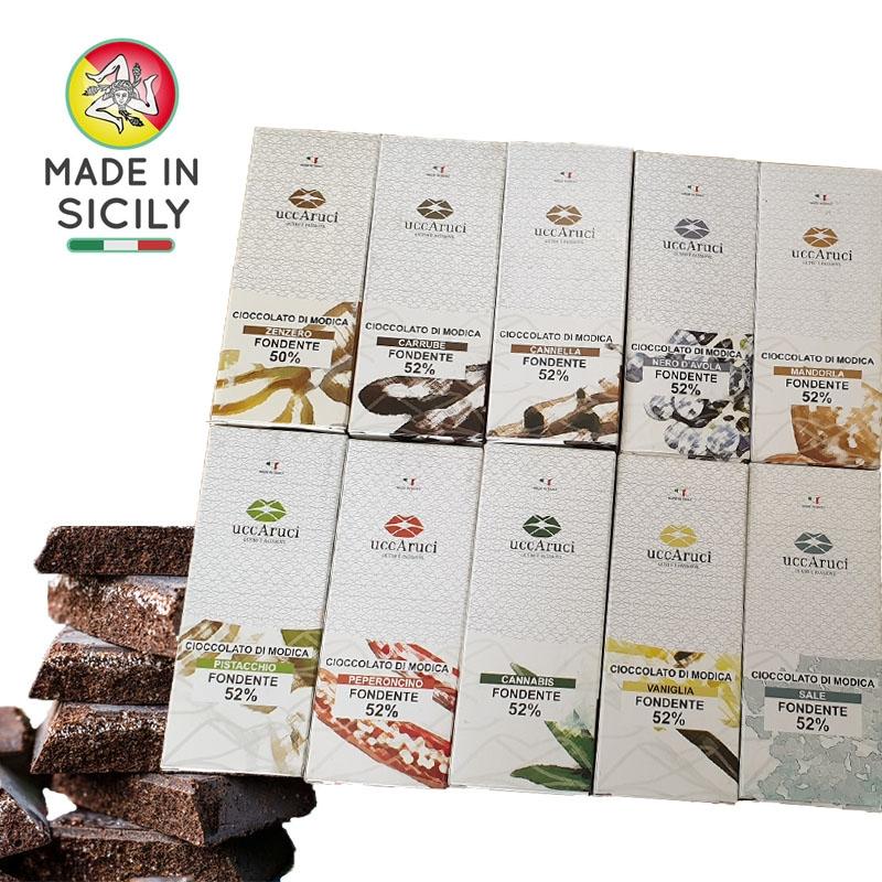 Caja de chocolate Modica 10 piezas de 100g - UCCARUCI