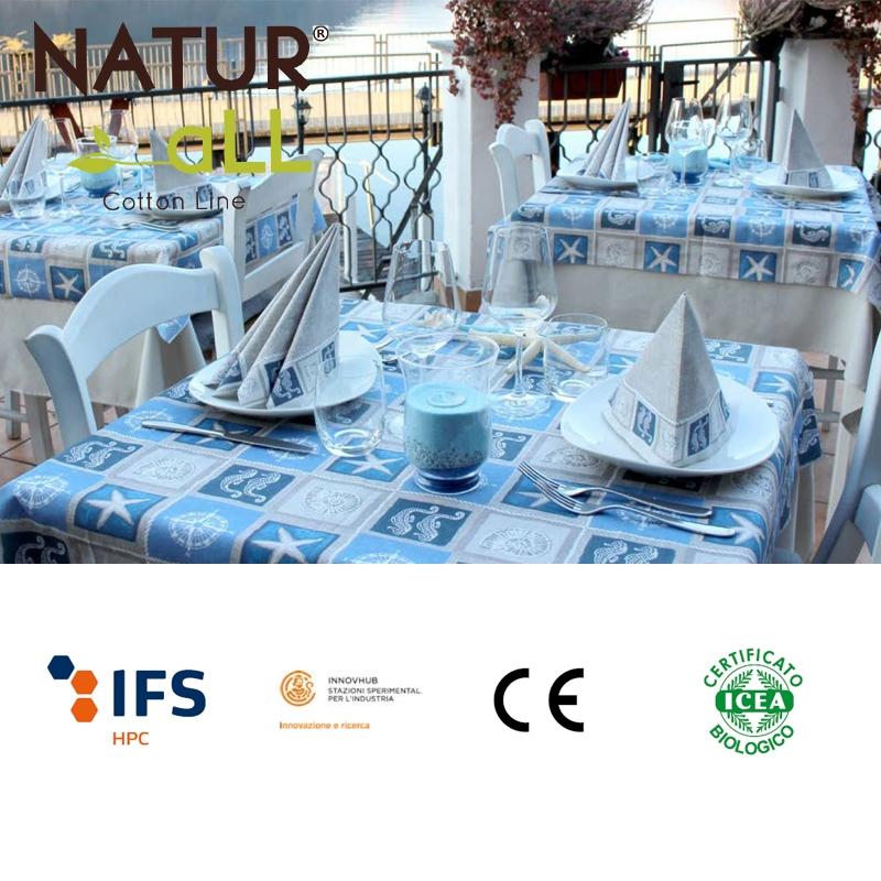Set 100 couverts de table + serviettes de table - Modèle Positano