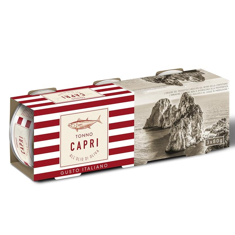 Thon à l'huile d'olive 3X80g - Capri