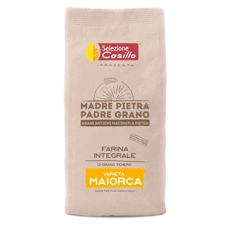 """Farina integrale di grano tenero """"Maiorca""""  500g - Selezione Casillo"""