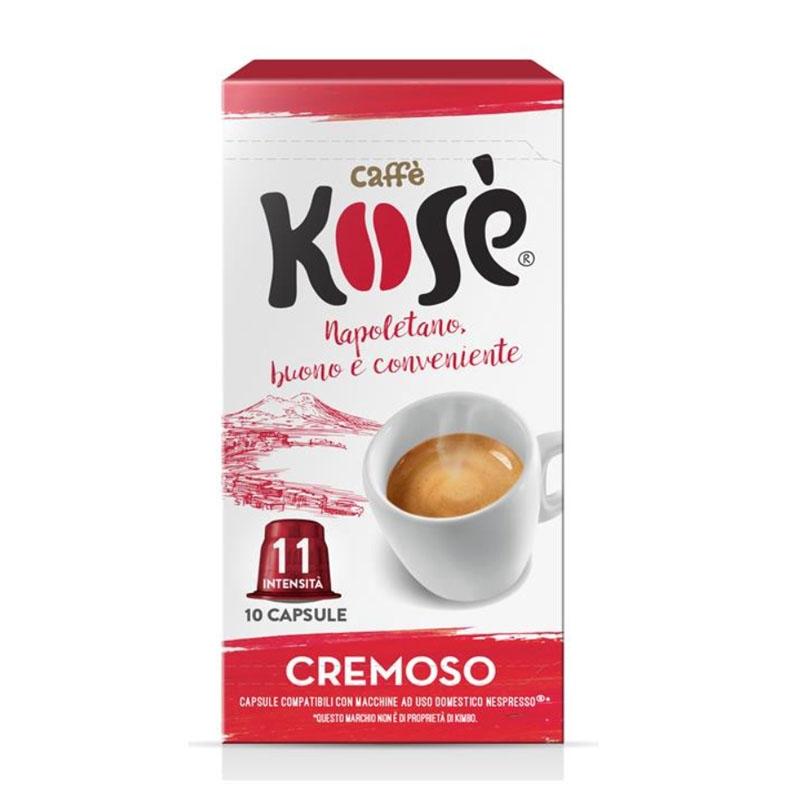 Creamy Kosé Coffee Nespresso cápsulas compatibles