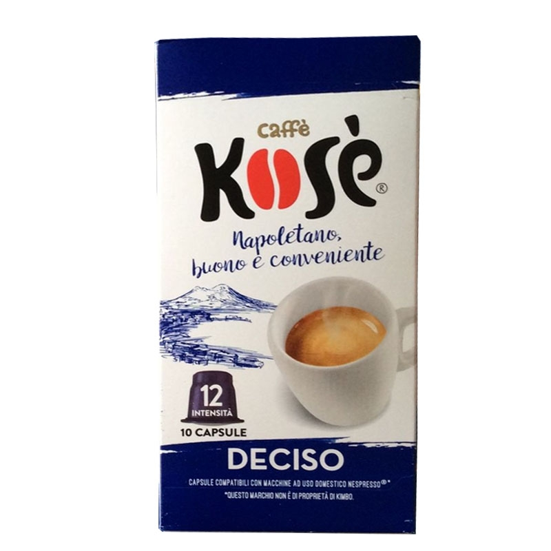 Caffè  Kosè Deciso capsule compatibili Nespresso