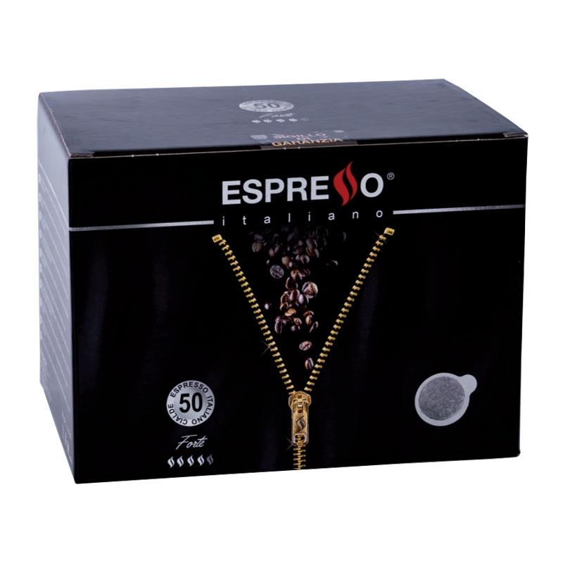 Café exprés Forte 50 vainas - ESPRESSO Italiano