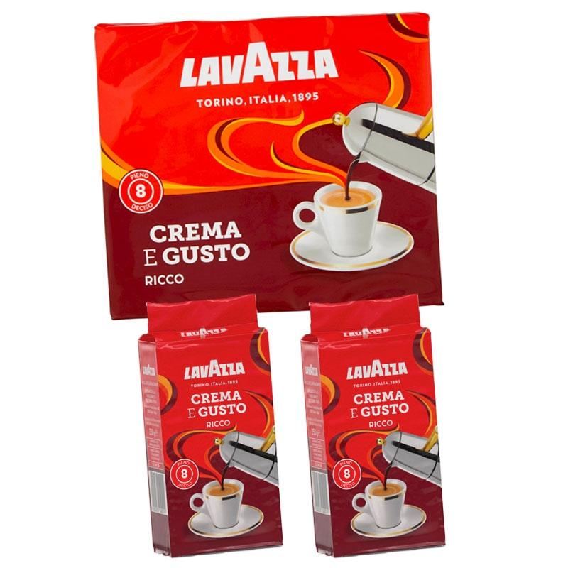 Café Crema e Gusto Forte 2x250g - LavAzza