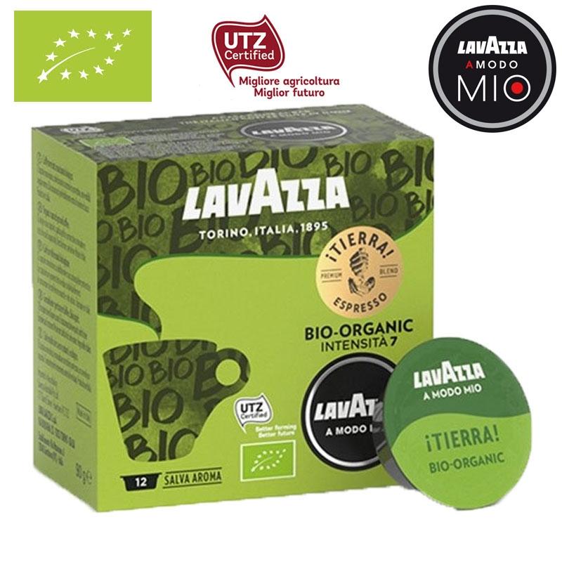A Modo Mio ESPRESSO Tierra Bio Organic 12 capsules - LavAzza