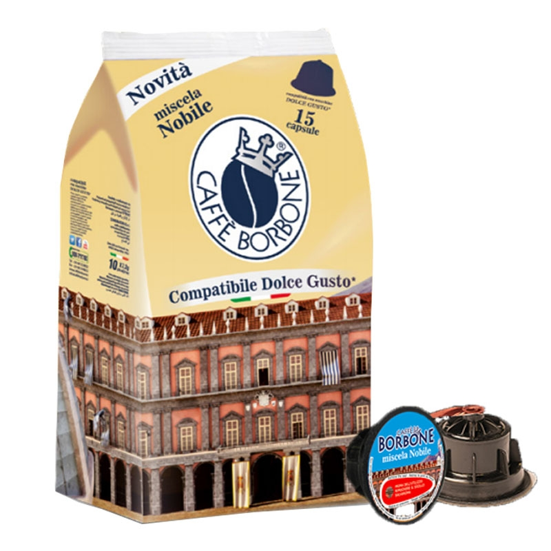 Café Miscela Nobile 15 cápsulas compatibles Nescafè Dolce Gusto - Caffè Borbone