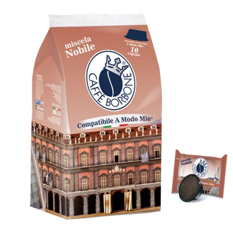 Caffè Miscela Nobile 10 Capsule compatibili A Modo mio - Caffè Borbone