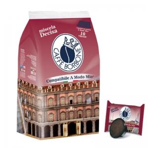 Café Miscela Decisa 10 Cápsulas compatibles A Modo mio - Caffè Borbone