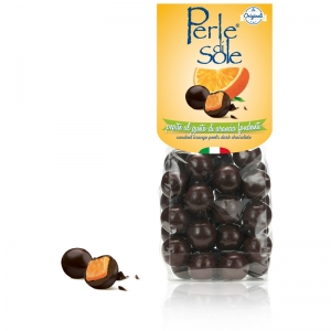 Cáscaras de naranja confitadas chocolate negro - Perle di Sole