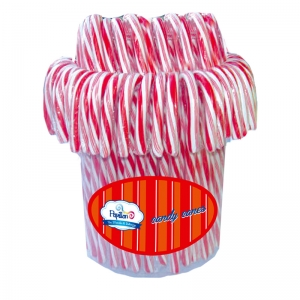 Candy Canes (Strawberry Flavor) - 12 Gr x 100 Pcs. Papillon