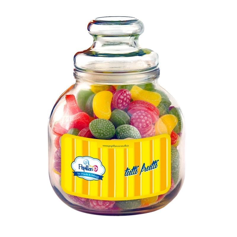Florero de vidrio Fruta - 966 Gr Papillon
