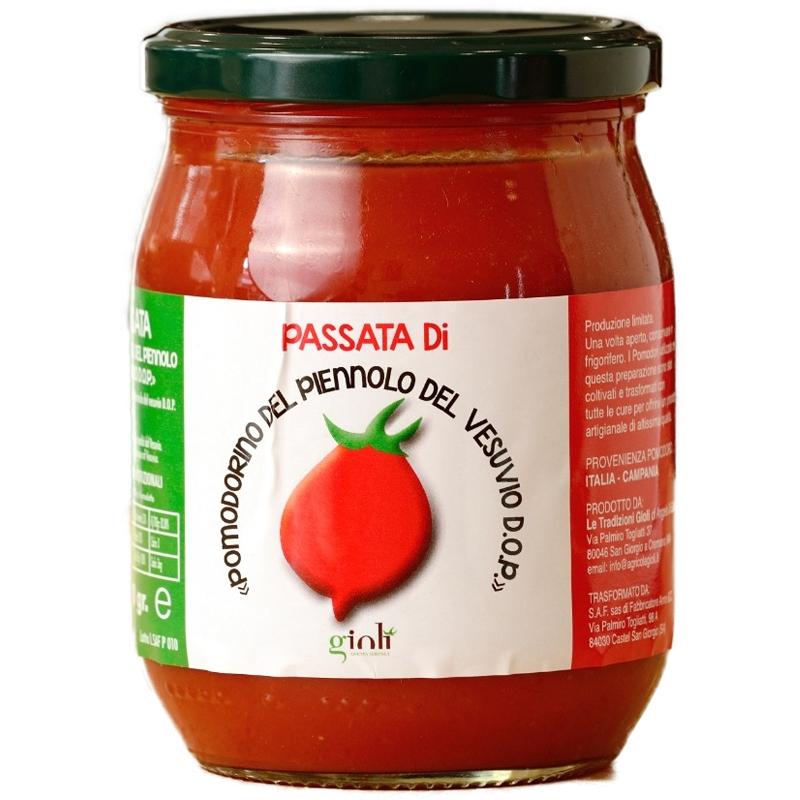 Purée de tomates de Piennolo del Vesuvio D.o.p. en verre 500 Gr.