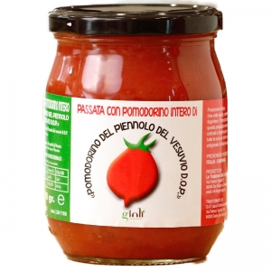 Tomato Puree with whole tomato Pomodorino Piennolo Vesuvius D.o.p. 500 Gr.