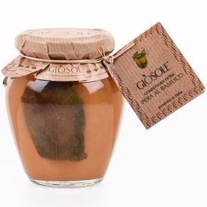 Mermelada de pera extra con albahaca 310 Gr. - Gio Sole
