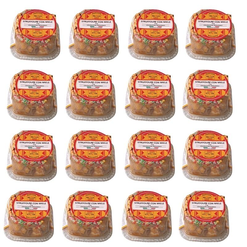 Struffoli con Miel - 16 porciones Mono de 75 Gr.