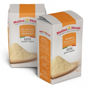 Durum wheat semolina Pizzuti Kg. 1