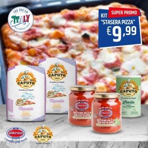 Kit Pizza Tonight - Farine Nuvola et levure Caputo + Datterini Chirico