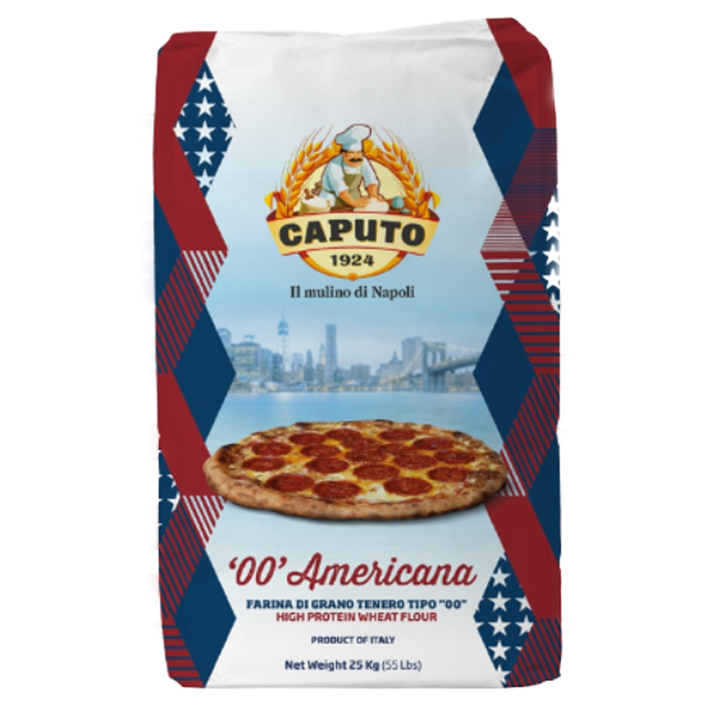 Farina Caputo '00' Americana - Per pizza americana Kg. 25