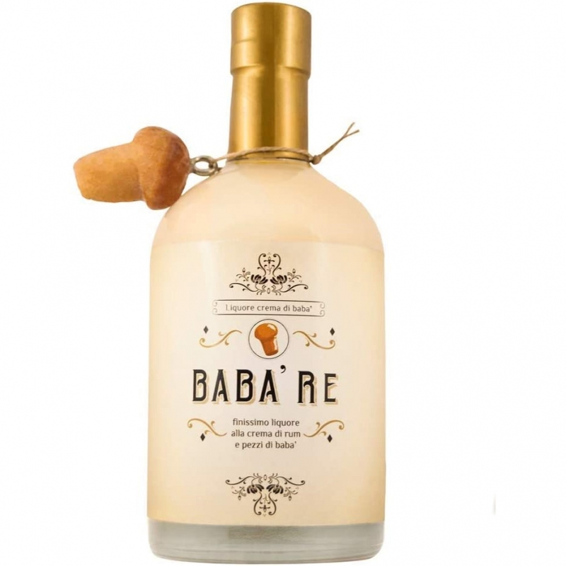Babà Re - Liquore con Rhum e pezzi di babà - 500 ml -
