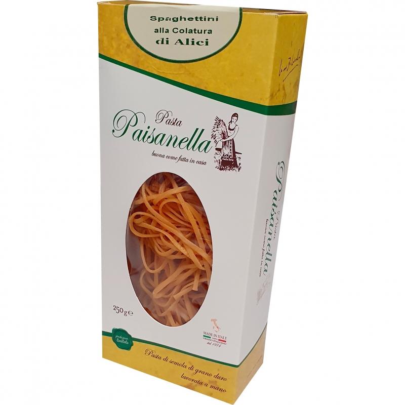 Spaghettini con salsa de anchoas 250 Gr