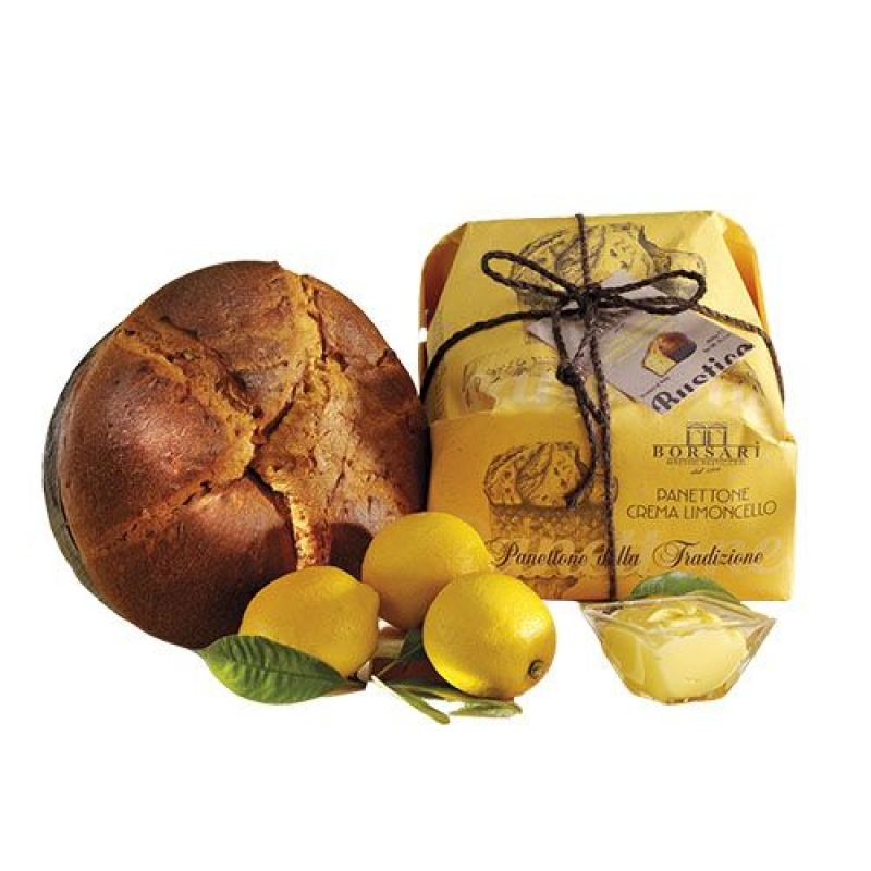 Panettone with limoncello cream