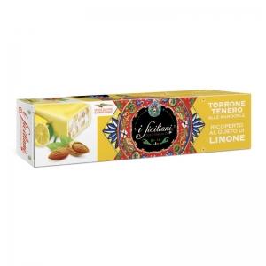 Nougat tendre aux amandes Recouvert de citron 150 Gr.