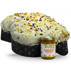 Campi Flegrei Colomba with candied fruits 1Kg.+Jar of Clementine Jam 100 Gr.