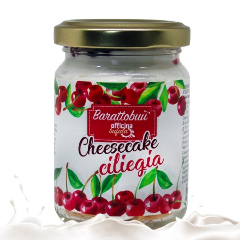 Officina Bufala Cheesecake cereza en tarro 90/100 ca. Gr.