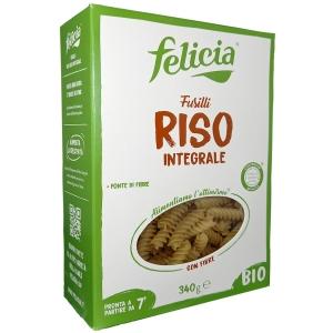 Felicia Fusilli Brown rice Bio 340 Gr.