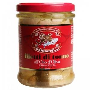 Filet de Thon à l'Huile d'Olive en Verre Sardanelli 200 Gr.