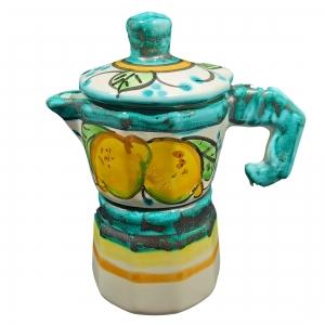 """Café moka napolitano """"ramino green"""" en cerámica de Vietri."""