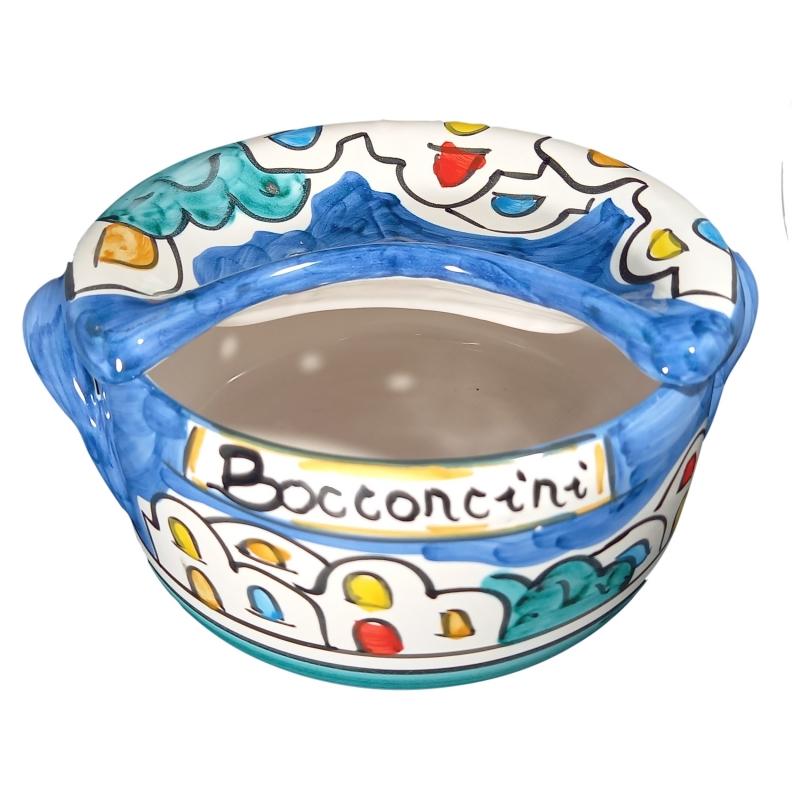 Porta bocconcini a tegamino in ceramica di vietri.