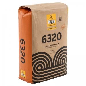 Farina PETRA 6320 per impasto frolla Kg. 12,5 - Molino Quaglia.