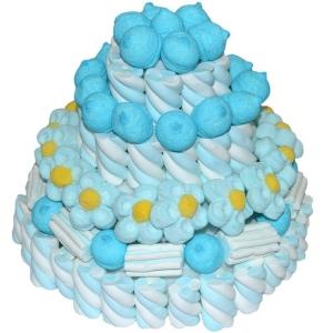 Blauer Marshmallow-Kuchen Bulgari 580 Gr.