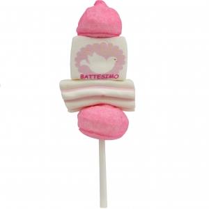 "Marshmallow Mini Spiedino ""Battesimo Rosa"" bulgari 22 Gr."