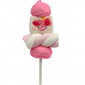 """Marshmallow Mini Spiedino """"1° compleanno rosa """" bulgari 22 Gr."""