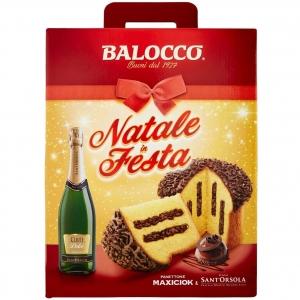Balocco Natale in Festa Pandoro Maxiciok e Vino Spumante Dolce  Casa Sant'Orsola.